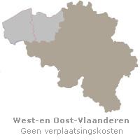 kaart West-en Oost-Vlaanderen