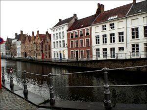 Zicht op Lange Rei Brugge